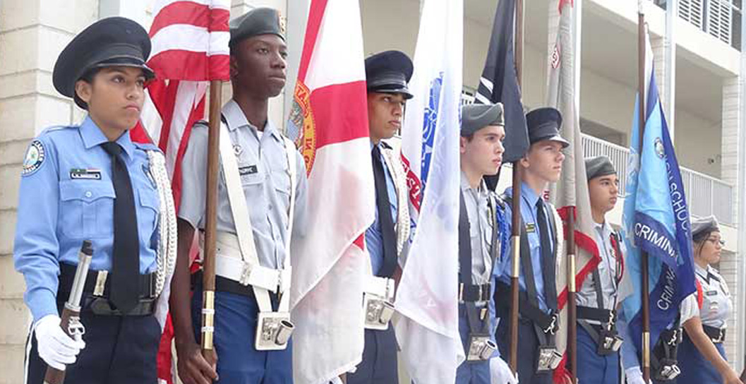 JROTC students